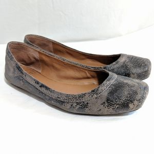 Lucky Brand Santana Square-toed Distressed Flats